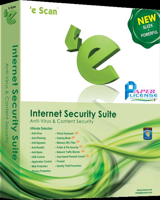 eScan Internet Security Suite - 1 User / 1 Year
